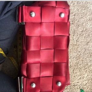 Harveys Bags - Harvey's Red Seatbelt Backpack Purse.